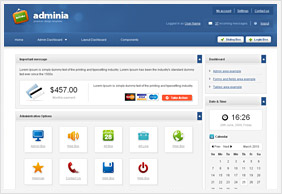 Admin Skins, Web Application Skins, Themes, Framework, User ...